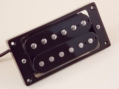 Axes'R'Us Alnico V humbuckers, Bridge and Neck, black open coil with pickup ring