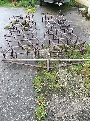 Vintage Spike Drag Harrow tractor pulled