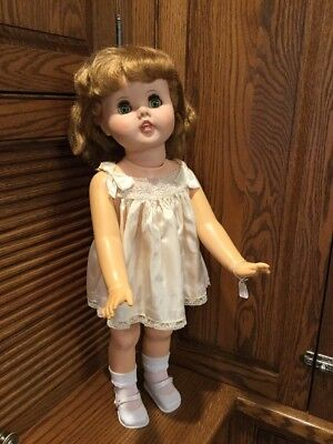 "VINTAGE TOODLES Little Girl FOLLOW ME EYES American Doll Co  1960 24"" Rare HTF"