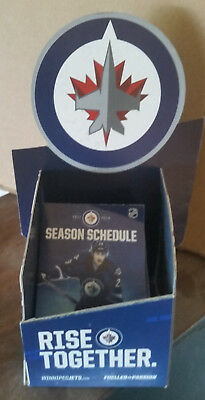 2017 Winnipeg Jets Nhl  Pocket Schedules (5)  Laine Picture + Counter Display