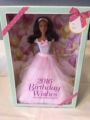 2016 Barbie Birthday Wishes Doll new in box Fast Free Shipping!