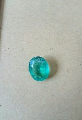 8.05 Ct. Natural Translucent Oval Shape Colombia Emerald Gemstone. W-40
