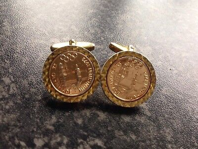 Vintage 1972 Olympic Games Munich Original Cufflinks Bottoms Olympiade München