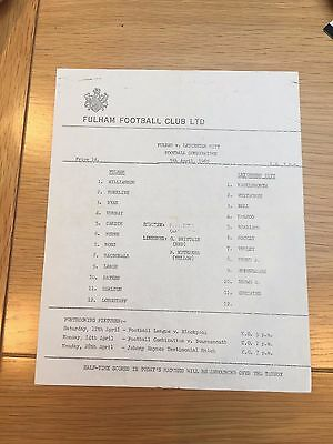 Fulham v Leicester City, Combination, 1969