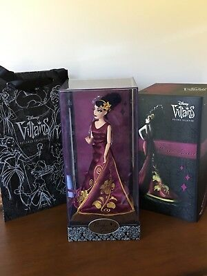 Disney Store Villains Designer Doll Collection Mother Gothel Limited & Bag  LE