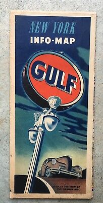 New York Gulf gas station map / sign