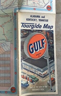 early Gulf station gas Alabama Kentucky Tennessee guide map