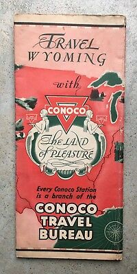 early conoco station gas Wyoming map