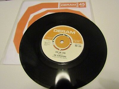 The Flirtations - Deram DM329 - Give Me Love / This Must Be The End of The Line