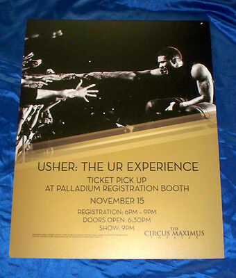 Usher: The UR Experience Tour November 15 2014 Caesars Atlantic City Sign Poster