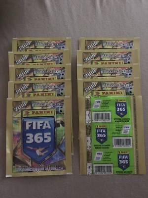 Fifa 365 ~ 2018 Panini Football Sticker Collection ~ 10 x Sealed Packs