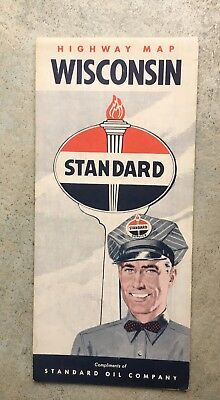 early gas station map sign wisconsin standard oil company