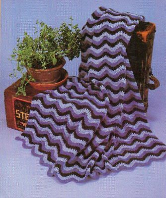 Floral Ripple Afghan Digest Size Crochet Pattern Instructions