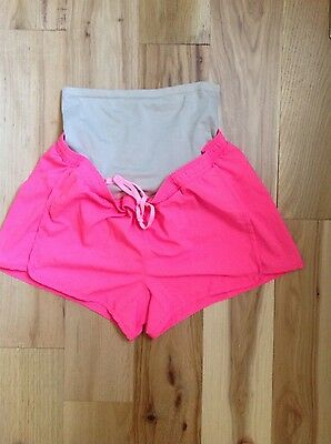 Old Navy Maternity Athletic Shorts Pink Size Small/petite