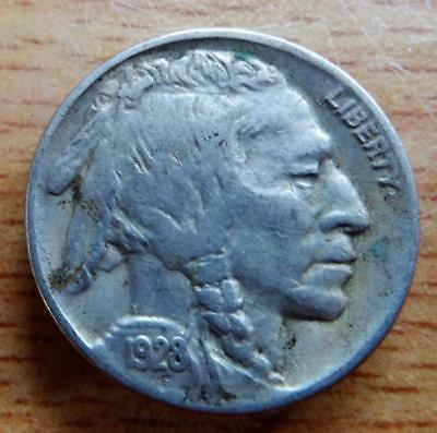 USA 1928 Buffalo Indian Head 5 cents nickel coin