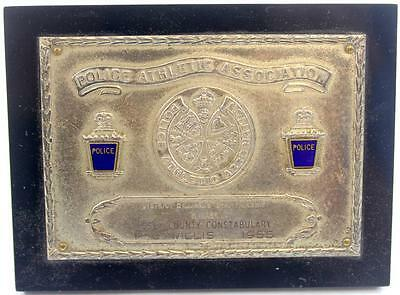 1955 Police Athletic Association Essex County Constabulary Championship Plaque