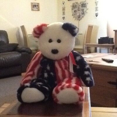 Ty beanie buddies teddy, American Stars n Stripes, Excellent condition, large