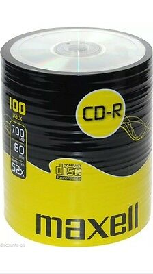 100 Pack Maxell CDR-R Blank Recoradable Discs CDR Shrink Wrapped Bulk Pack UK