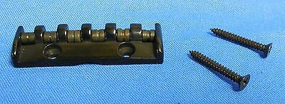 NEW BLACK ROLLER NUT with screws  FOR ELECTRIC GUITAR  NECK