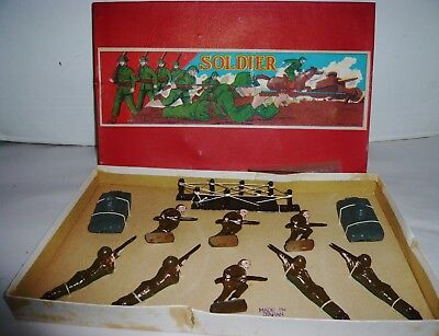 Vintage Japan Lead Toy Wwii Toy Soldiers In Box Nmint