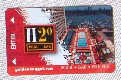 Golden Nugget Casino Atlantic City Hotel Room Key Card H2O Pool & Bar