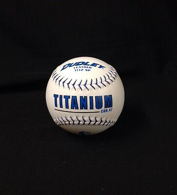 Dudley Leather TITANIUM TI 12 SP Cor 47 Softball Blue Stitch New In Box