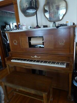 WORKING Player Piano with 100 rolls