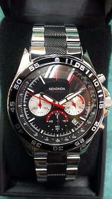Sekonda Men's(N3475) Chronograph 50M Black Dial Watch~ New In Box ~ No Reserve