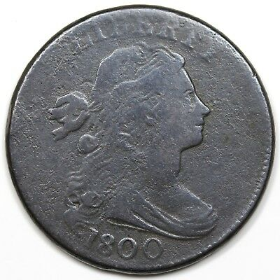 1800 Draped Bust Large Cent, F-VF detail