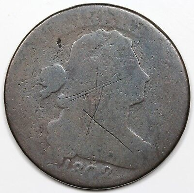 1802 Draped Bust Large Cent, AG detail