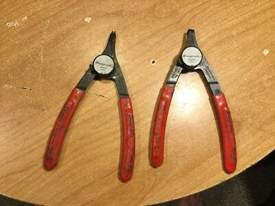 2 Vintage Snap-On  Ring Pliers - PRH349 and PRH34 Mechanics Pliers