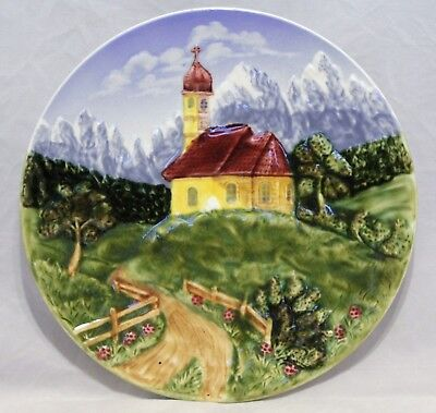 """Majolica Decorator Plate - """"Black-Forest Hand Painted Germany No. 23"""""""