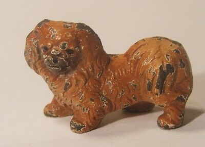 Pekingese Vintage Miniature Cast Metal Dog Figurine