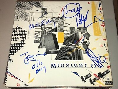 Midnight Oil GROUP Signed Autographed 10,9,8,7,6,5,4,3,2,1 Album LP