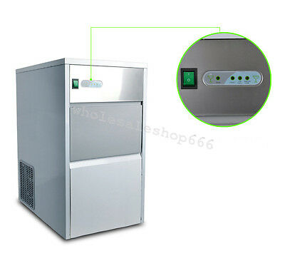 25kg Auto Commercial Ice Maker Cube Machine Stainless Steel Bar Drinking 55lb CE