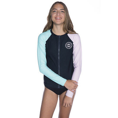 Billabong Girls Venice Beach Long Sleeve Rash Vest in Black
