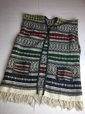 South American Latin  Open Poncho Vest Adult Med-Large. Costume