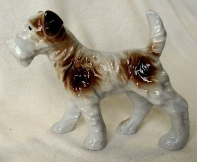 Cool Vintage Porcelain Fox Terrier Figurine Japan