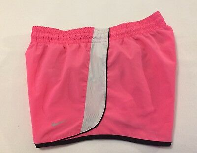 Nike Women's Dri-Fit Lined Running Athletic Shorts Pink Black White Size S Small