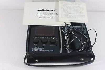 Audio Source,RTA-ONE,real time analyzer and sound pressure level meter (ref A244