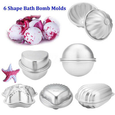 6 Shape Metal Aluminum Bath Bomb Molds Moulds DIY Homemade Crafting GIFTS SP