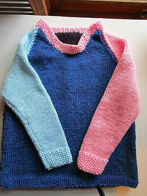 childrens hand knitted jumper/4 years