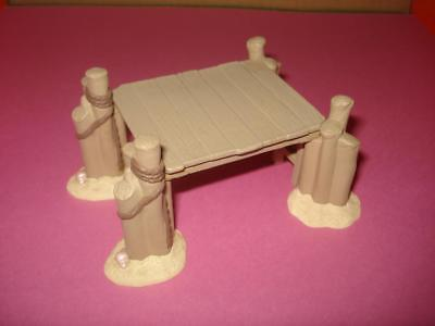 Hallmark MERRY MINIATURES 1994 Summer Beach-DOCK-needs repair glue -Hard to find