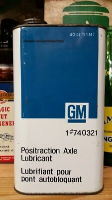 GM General Motors Positraction Axle Lubricant Imperial Quart Tin Can Motor Oil