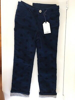 Gap Boys Navy Star Pull On Corduroy Lined Pants 5t NWT