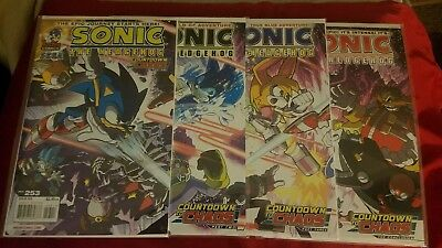 Sonic the Hedgehog Comic Lot Issue 253 254 255 256 countdown to chaos!