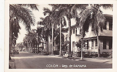 postcard Panama COLON unused RP