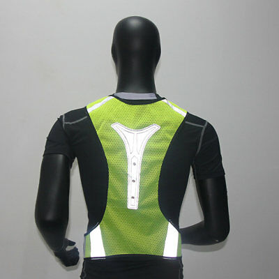 Thin Breathable Night Running Cycling LED Safety Security Reflective Vest ES