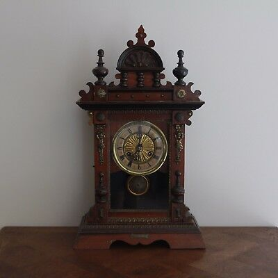 Henri II Style French Antique Wooden Clock