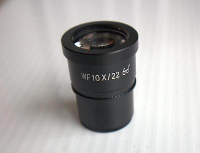 WF10X 22mm Wide Angle High Eyepiont Stereo Microscope Eyepiece Lens 30mm